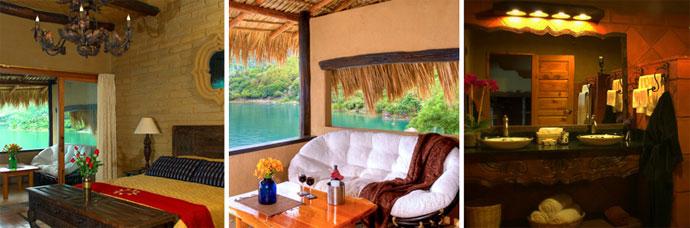 Muebles Para Baño Quetzal:la suite de quetzal con paredes de adobe y piso de madera está